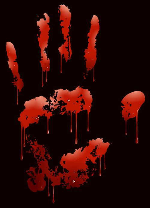 Blutige Hand aus dem Herzen von Linz