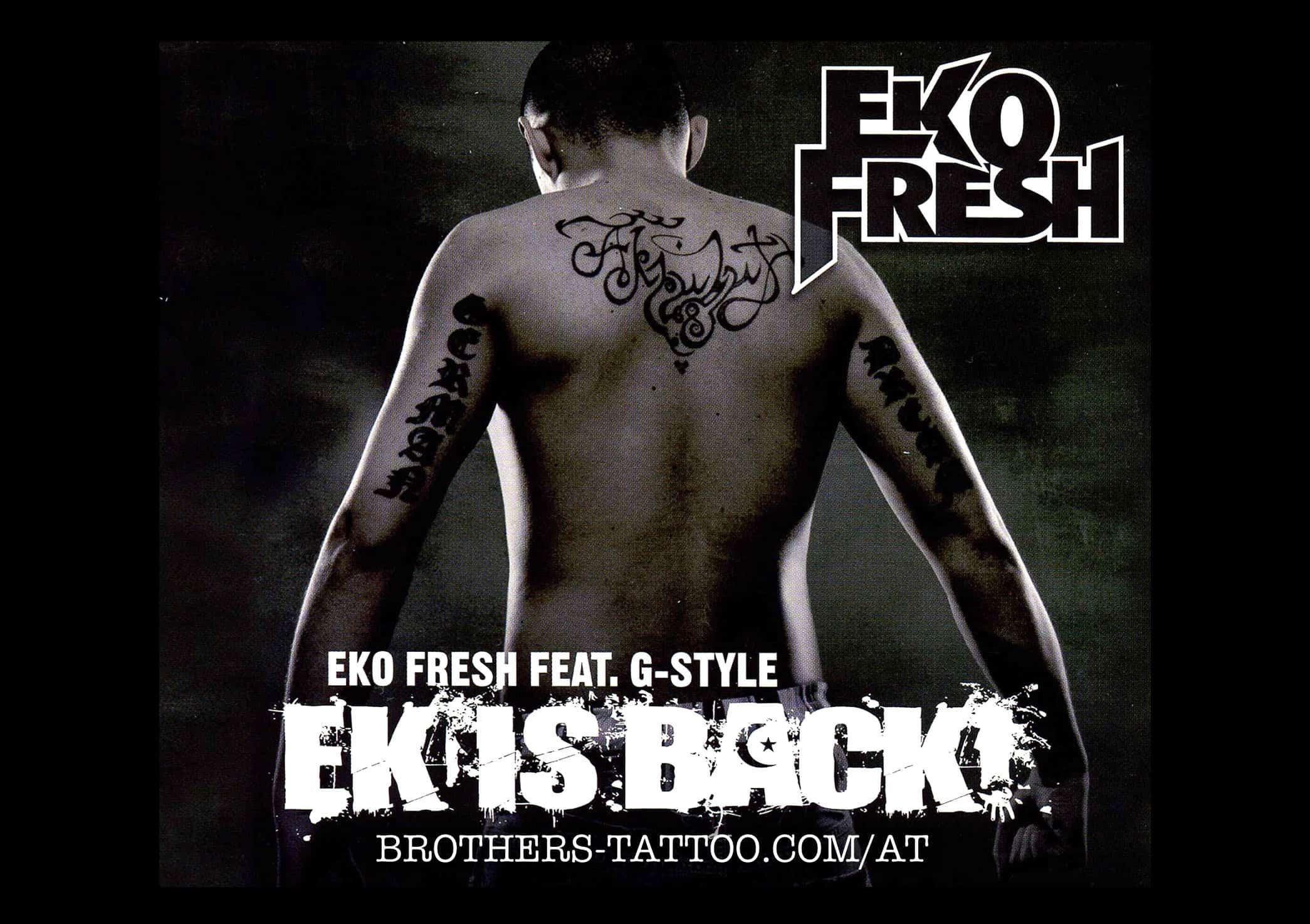 Eko Fresh feat G-Style CD-Cover mit tätowierungen am Rücken