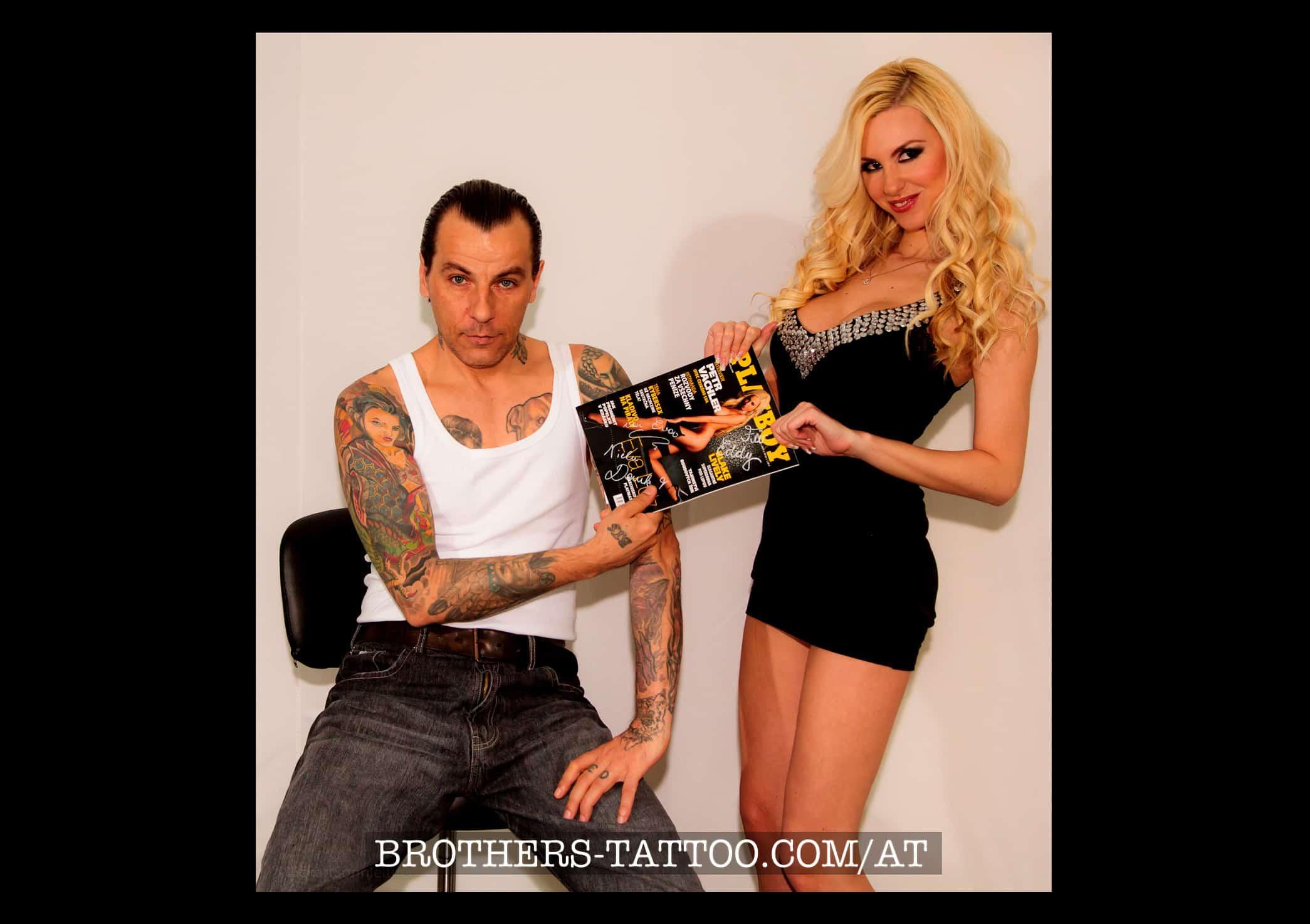 Playboy Model Eva Lutz bei uns im Tattoostudio