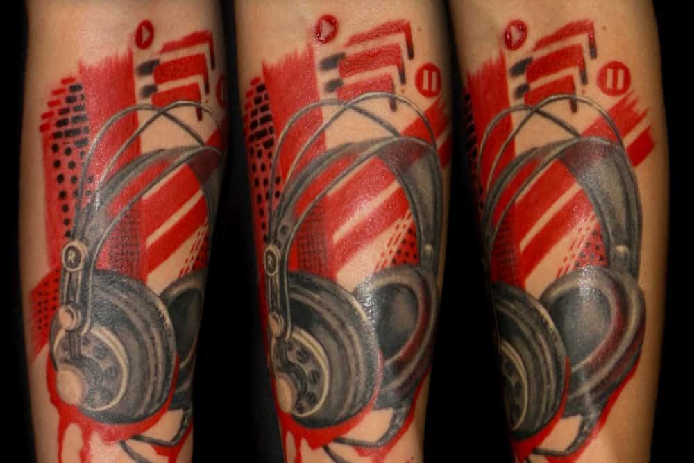Trash Watercolor Tattoo Work: Foto Übersicht