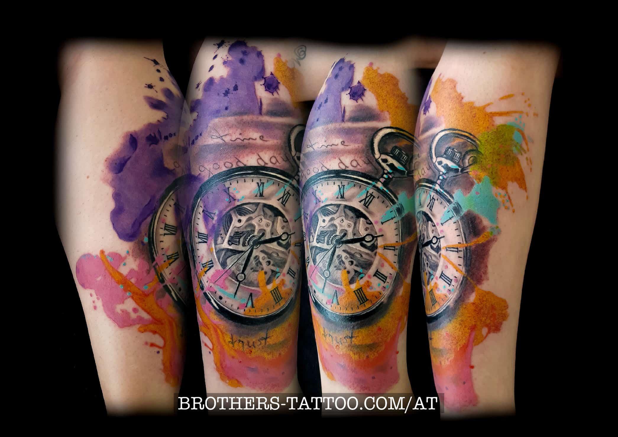 c662915400131 Trash & Watercolor Tattoomotive • Brothers Tattoo & Piercing
